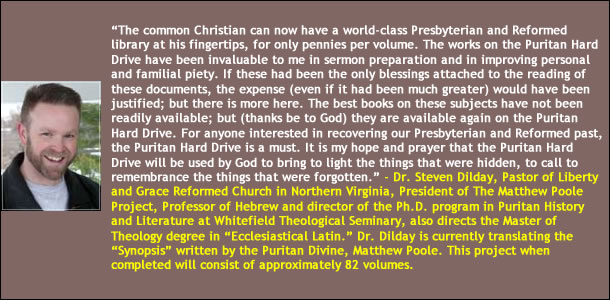 Dr. Steven Dilday on the Puritan Hard Drive